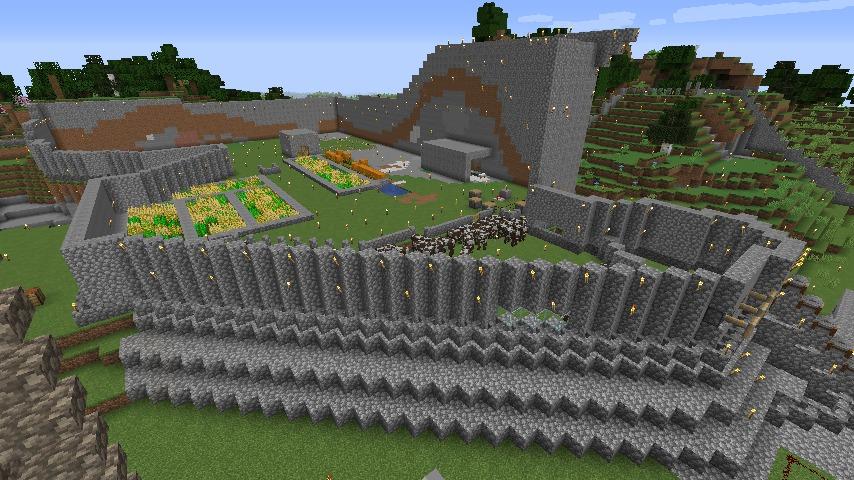 Minecraft(マイクラ)丸石拠点season4全体図