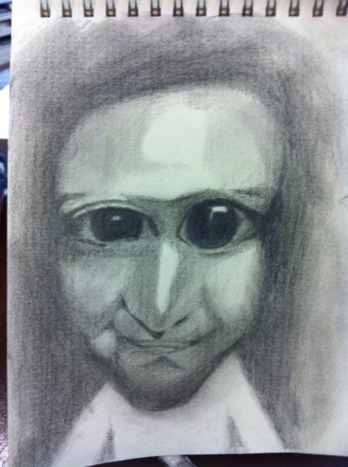 鉛筆画 模写 青鬼