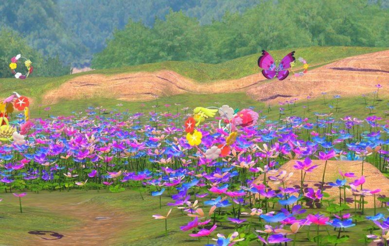 花畑とキュワワー