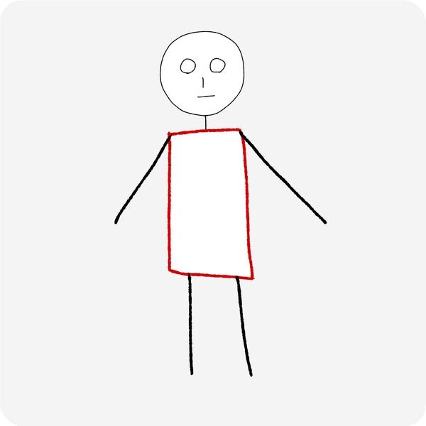 人体の認識 体の幅