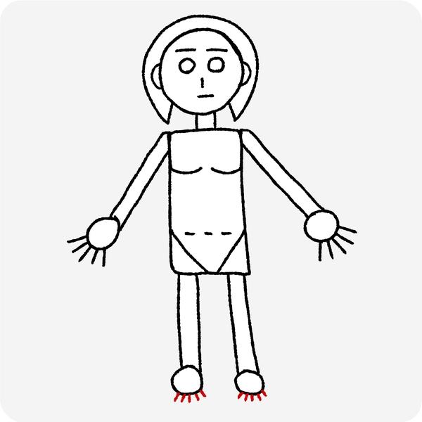 人体の認識 足の指