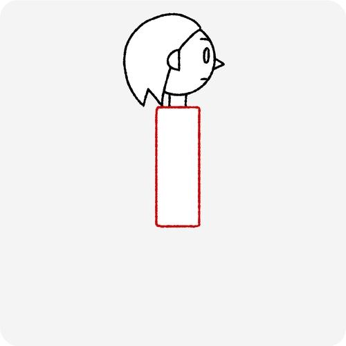 人体の認識 横面 体の幅
