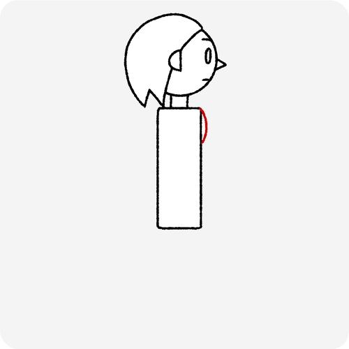 人体の認識 横面 胸